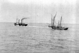 Bateaux sortant de la Barre