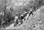 Groupe comique sur les Bords de l'Aveyron