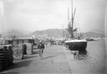 Le Port dans le fond et le Gibralfaro