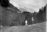 Vue prise du Fer à cheval Glaciers du Miage et de Bionnassay