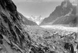 Le mauvais pas, le mur de glace, vue prise du chapeau