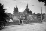 Vue de Lauzanne. La cathédrale
