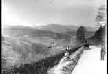 Vue des Pyrénées prise du haut de la cote de Loncamp