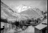 La ville et le Cabalèros près de la route de la Raillère (février)