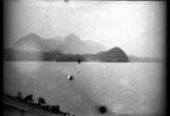 Vue sur Spiez, le Stockhorn et le lac prise en bâteau