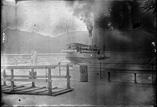 Embarcadère du lac de Thoune. Bâteau